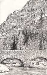 """Ink on a Yosemite River Bank"""