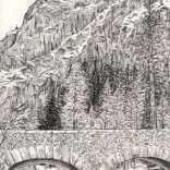 """Ink on a Yosemite River Bank"""